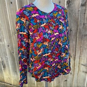 Conversations by Anthropologie Oh Deer Blouse | 10